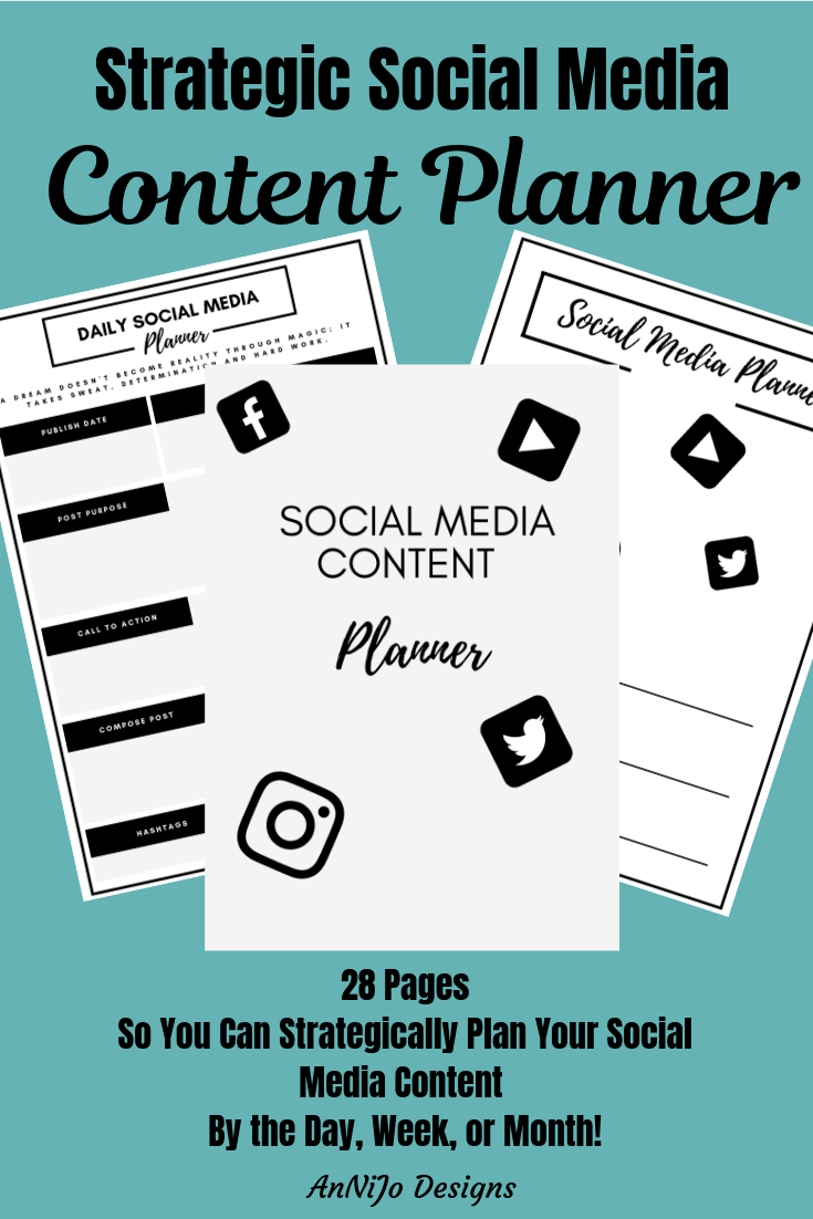 This is a picture of a mockup of a social media planner