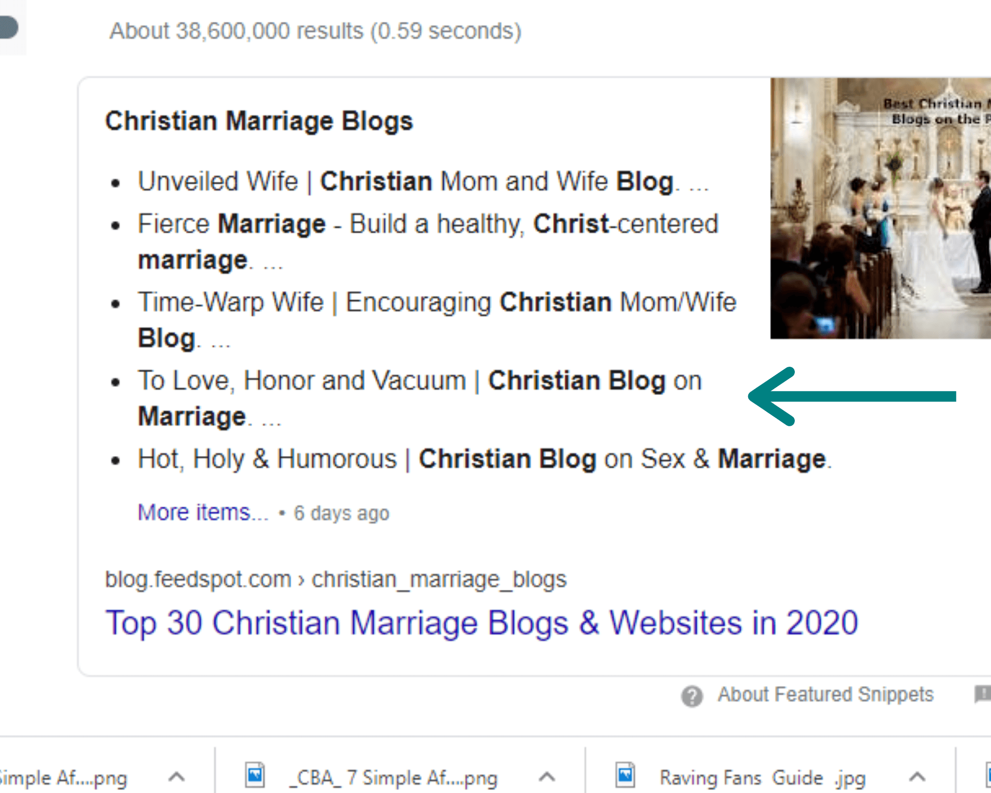 screen shots of Christian marriage blogs profitable blog niches