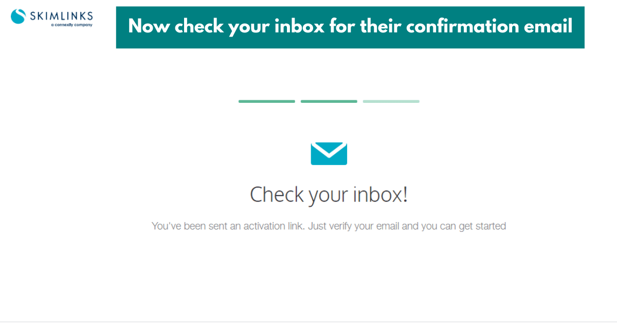 signing up to be an affiliate for skimlinks