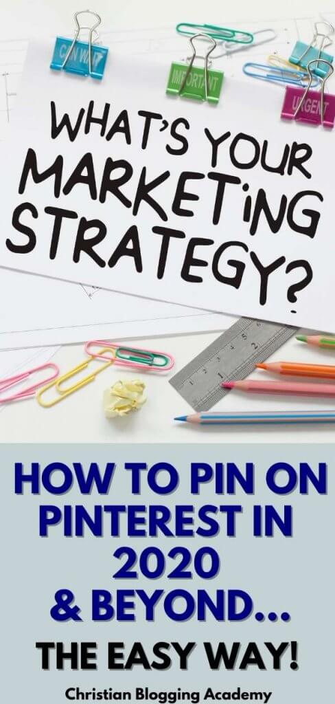 what is your (Pinterest) marketing strategy