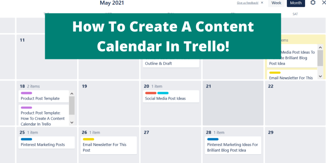 pic of a content calendar in trell