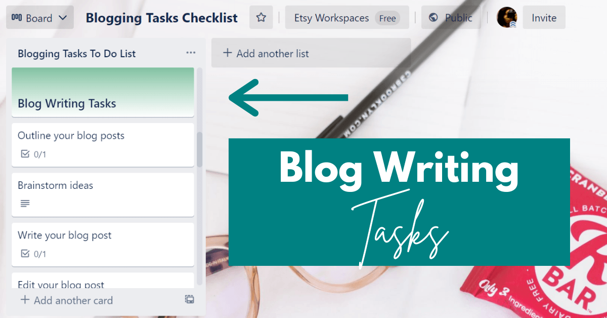 pic of checklist for blogging to do list