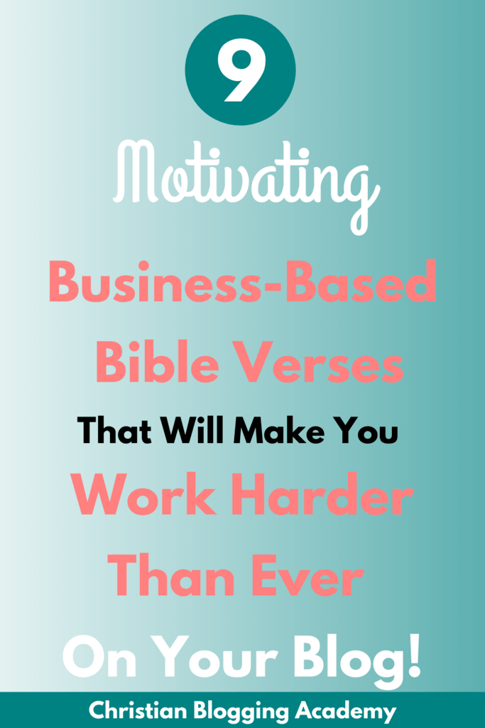 bible verses about small business